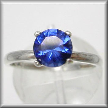 Blue Sapphire Engagement Ring | Blue Sapphire Wedding Ring | 1ct Royal Blue Sapphire Classic Solitaire Engagement Ring | 2-16
