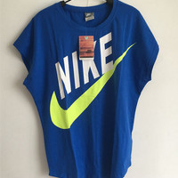 Nike Women Blue Signal Tee T-Shirt