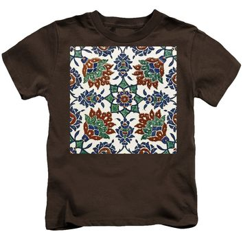 An Ottoman Iznik Style Floral Design Pottery Polychrome, By Adam Asar, No 13l - Kids T-Shirt