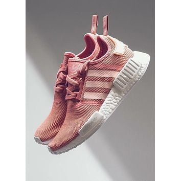 "Women ""Adidas"" NMD Fashion Trending Pink/White Leisure Running Sports Shoes"