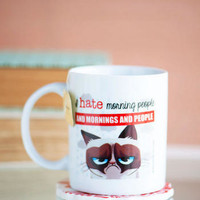MORNING PEOPLE GRUMPY CAT MUG