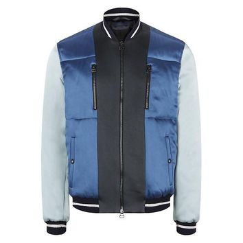 Lanvin Color Block Contrast Sateen Jacket