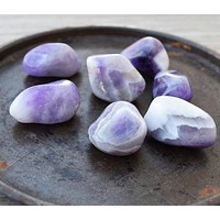 CHEVRON AMETHYST Spiritual Growth, Life Purpose, Banded Amethyst Purple Crystal