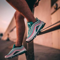 shosouvenir : Nike Air Max 97 air cushion green Gym shoes