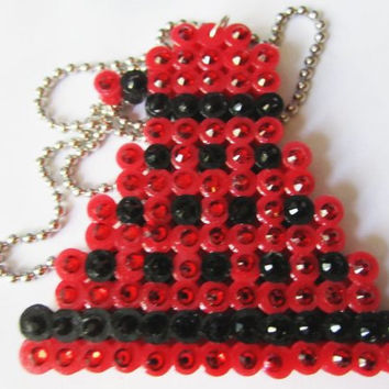Doctor Who Sparkly Red And Black Dalek Rhinestone Crystal  Necklace