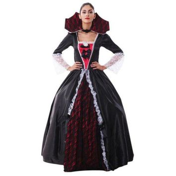 ESBONIS 2017 halloween costumes for women Long Maxi Evening Party Dress Beach Dressesvestido de festa cosplay vampire Witches W1