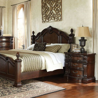 Standard Furniture Churchill 2 Piece Poster Bedroom Set in Antique Bronze