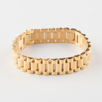 The Gold Gods Gold Watch Link Bracelet Gold One Size For Men 27326062101