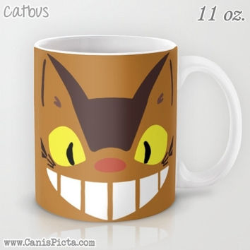 Catbus My Neighbor Totoro 11 / 15 oz Mug Dishwasher Microwave Safe Cup Tea Coffee Drink Anime Manga Hayao Miyazaki Studio Ghibli Chibi Brown