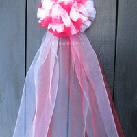Red White or Ivory Tulle Bow