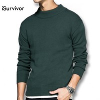 2017 iSurvivor Men Autumn Thick Sweaters Pullovers Male Casual Fashion Slim Fit Large Size O Neck Knitted Sweater Hombre Outwear