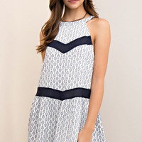 Medallion Print Halter Dress