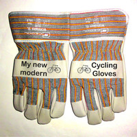 Printed Work Gloves, Garden Gloves. Funny Cycling Bicycle Gloves Men Bicicleta Ciclismo Specialized Biking Gloves Finger Cycling Gloves.