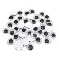 CCINEE Self-adhesive Toy Eyes 5/6/7/8/10MM Total Mixed Googly Eye Teddy Bear Plastic Doll Eye Scrapbook For Doll Toy Accessories