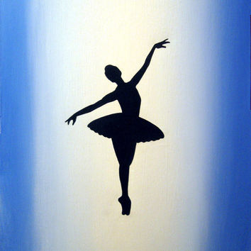"""ballet painting ballerina large modern abstract art wall canvas """"The Dancer"""" dance 16 x 20 inches"""
