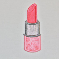 Iron on Sew on Lipstick Applique Patch