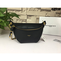 GIVENCHY LEATHER WHIP WAIST PACK CHEST PACK CROSS BODY BAG
