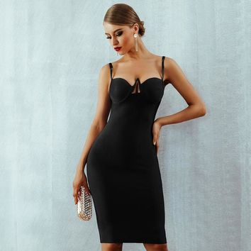 Genelle Bandage Dress - Black