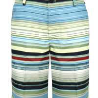 Retro Stripe ProCool Golf Shorts (Green/Black)