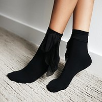 Memoi Womens Caberet Wrap Ankle Sock