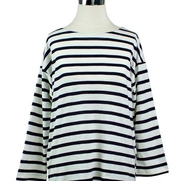 Toss Boat Neck Tee with Zipper