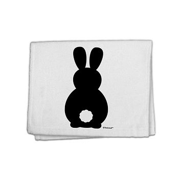 """Cute Bunny Silhouette with Tail 11""""x18"""" Dish Fingertip Towel by TooLoud"""