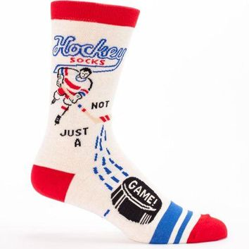 Hockey Not Just A Game Mens' Socks in Red, White and Blue
