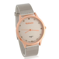 WoMaGe 471 Water Resistant Stylish Analog Watch with Alloy Strap L (Gold) = 1956520324