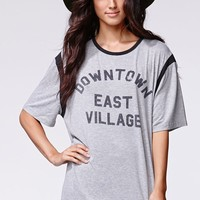 Some Days Lovin Downtown East T-Shirt - Womens Tee - Gray