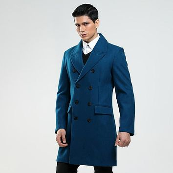 New Winter Coat Male Double Breasted Woolen Clothing Double Breasted Fashion Cashmere like high quality plus size S-8XL9XL10XL
