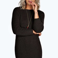 Maria Soft Knit Jumper Dress | Boohoo