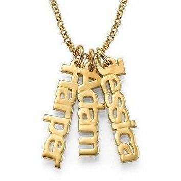 18K Gold Plated Vertical Style
