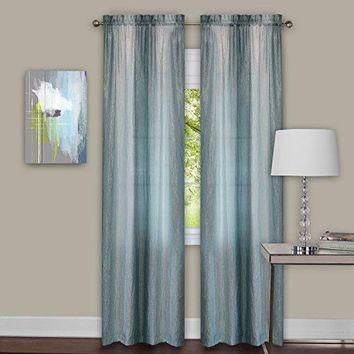 Ben&Jonah Collection Sombre Window Curtain Panel Pair 40x84 - Mist