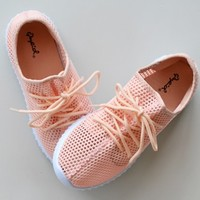 Don't Mesh With Me Pink Sneaker
