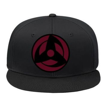 New Fashion Kakashi Sharingan - Naruto Hip Hop Cap Snapback Hat Black Male/female Cotton