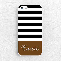 Monogram Phone Case for iPhone 6 5 4, Sony z1 z2 z3 compact, LG G2 G3 nexus 5 nexus 6, Nokia 520 striped custom case with personalized name