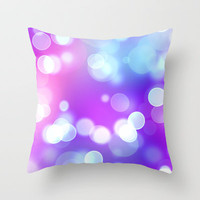 Bright Dots Throw Pillow by Fine2art