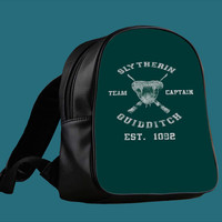harry potter slytherin quidditch team captain for Backpack / Custom Bag / School Bag / Children Bag / Custom School Bag ***