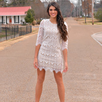 Gypsy White Lace Dress