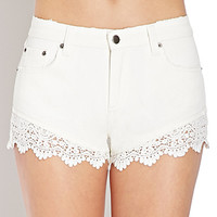 Dream On Lace-Trim Shorts