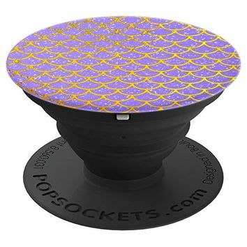Mermaid Purple and Gold - PopSockets Grip and Stand for Phones and Tablets