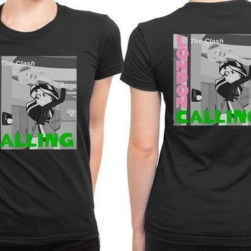 The Clash London Calling Cameleon Man 2 Sided Womens T Shirt