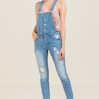 Harper Button Front Overalls