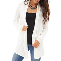 LOVE 21 Longline Open-Front Cardigan
