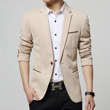 factory price spring autumn men fashion one buttons Blazers Suits men business casual Blazers Suits high quality