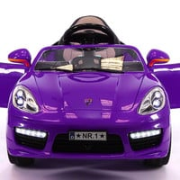 SPORT COUPE KIDS RIDE ON TOY CAR WITH PARENTAL CONTROL | PURPLE