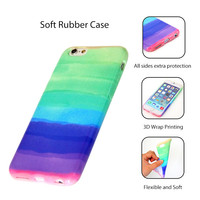 Pastel Abstract Color iPhone 6 Plus/6/5S/5C Soft Protective Case
