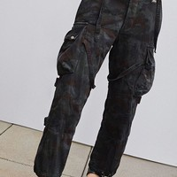 Vintage Overdyed Camo Suspender Pant | Urban Outfitters