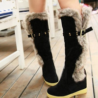 High Heeled Ankle Knee-High Boots