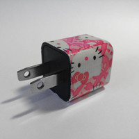 Hello Kitty Pink iPhone USB Charger by VanityCases on Etsy